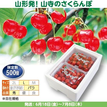佐藤錦(19)500g(L、秀:バラ詰)×2、保冷剤入