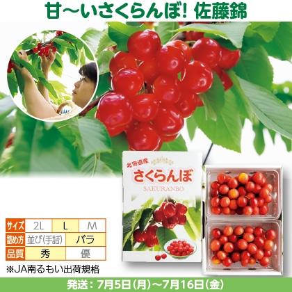 佐藤錦(22)300g(L、秀:バラ詰)×2
