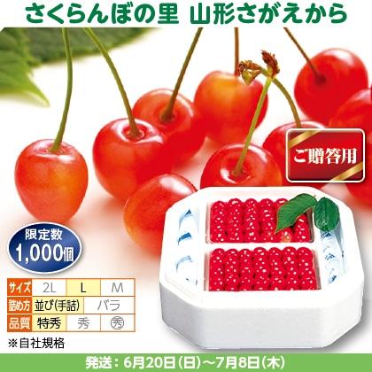 佐藤錦(33)550g(L、特秀:手詰)×2、保冷剤入