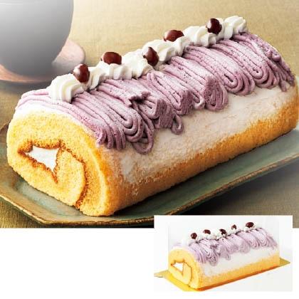 紫芋のロールケーキ
