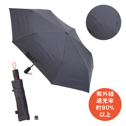 <mabu×東急ハンズ>ストレングス自動開閉折傘 58cm 晴雨兼用(墨)