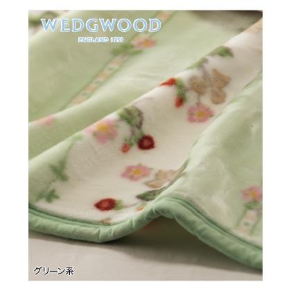 <ウェッジウッド>アクリルニューマイヤー毛布(グリーン系)