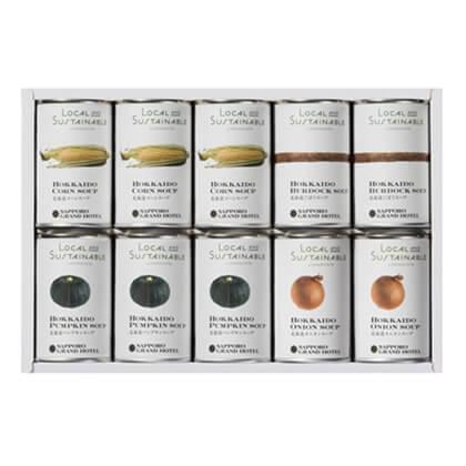 ローカルアンドサステナブル 札幌グランドホテル 北海道スープ缶詰詰合せ(10缶入り)