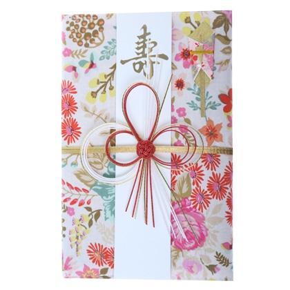 ご祝儀袋 結姫 musubime 末広(コットン)色花