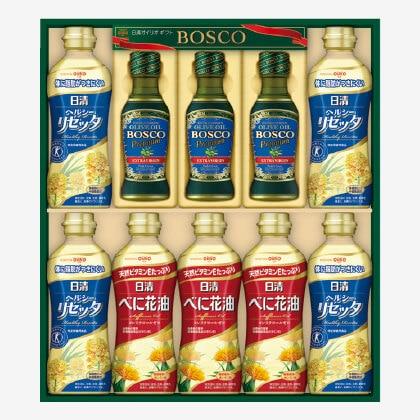 ボスコプレミアムオリーブオイル&リセッタべに花油ギフトS(2)