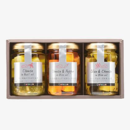 チーズのオリーブオイル漬けおつまみセット(1)