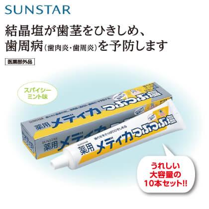 サンスター 薬用メディカつぶつぶ塩10本セット