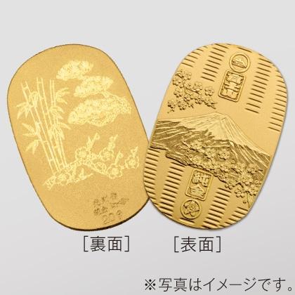 〈光則作〉純金製 富士桜小判 (小・松竹梅)