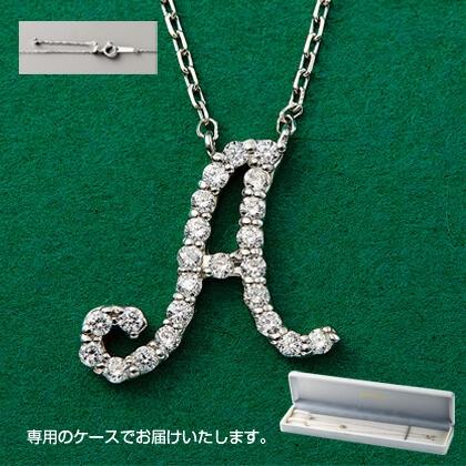 Pt999ダイヤモンドイニシャルペンダント(A)