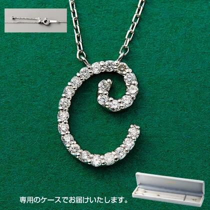 Pt999ダイヤモンドイニシャルペンダント(C)