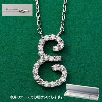 Pt999ダイヤモンドイニシャルペンダント(E)