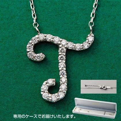 Pt999ダイヤモンドイニシャルペンダント(T)