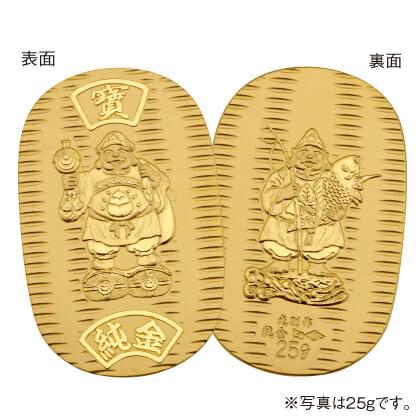 〈光則作〉純金製 大黒天・恵比須小判(5g)