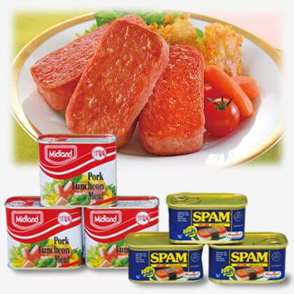 Midland ランチョンミート&ホーメル スパム詰合せ(6缶入)
