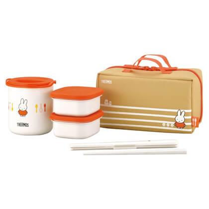 サーモス 保温弁当箱 オレンジ ミッフィー