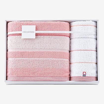 ピンキー&ダイアン バス・ウォッシュタオルセット (ピンク)