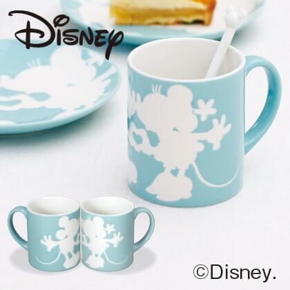 ミッキー&ミニー ペアマグカップS A ブルー