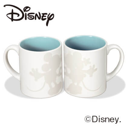 ミッキー&ミニー ペアマグカップS A ホワイト