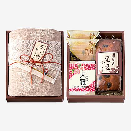 今治タオル&菓子詰合せ(お名入れ) A