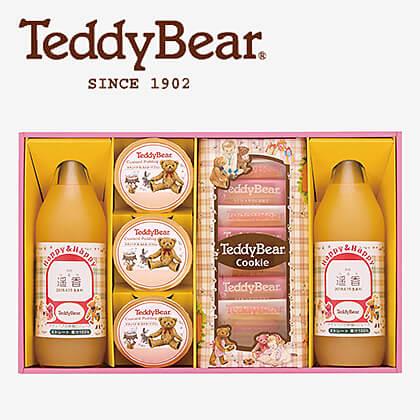 テディベアのりんごジュースと焼き菓子(お名入れ) D
