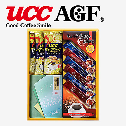AGF・UCCコーヒー・ドリップ緑茶C B