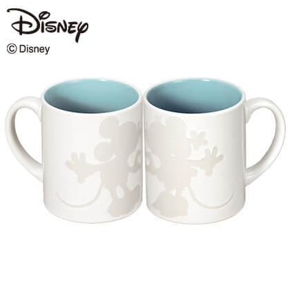 ミッキー&ミニー ペアマグカップ ホワイト