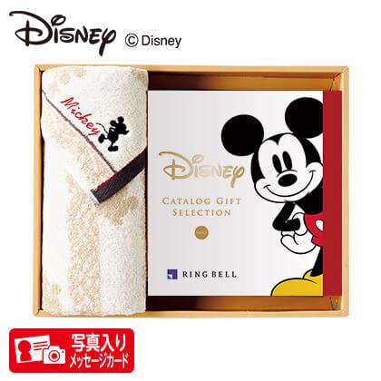 ディズニー カタログギフトセレクション スマイル コースP 写真入りメッセージカード(有料)込+フェイスタオルセット(アイボリー)
