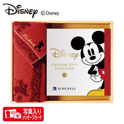 ディズニー カタログギフトセレクション スマイル コースP 写真入りメッセージカード(有料)込+フェイスタオルセット(レッド)