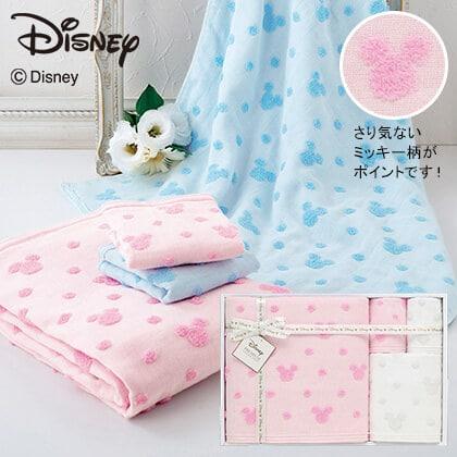 ディズニー ガーゼタオル4枚セット ピンク