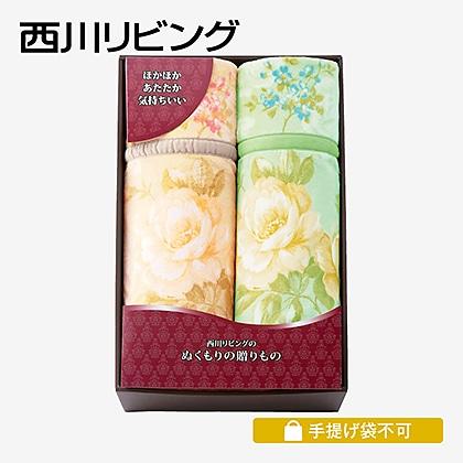 西川リビング ポリエステルニューマイヤー毛布2枚セット