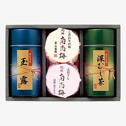 紀州南高梅・静岡銘茶詰合せ C