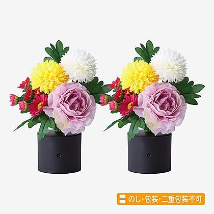 リモコン付仏花(一対)(パープル)