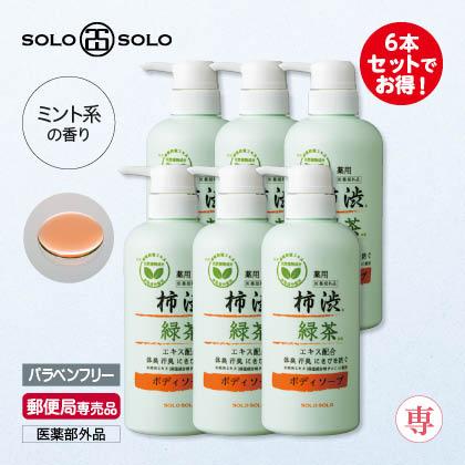 〈ソロソロ〉薬用柿渋エキス配合ボディソープ6本