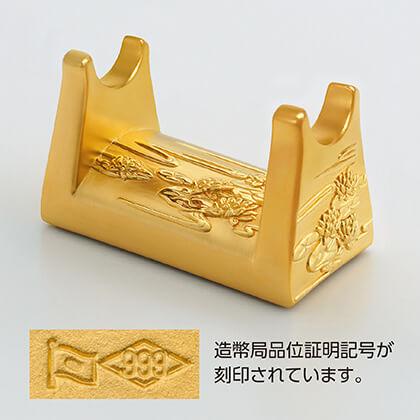 〈光則作〉純金製 りん棒置 2.5寸用