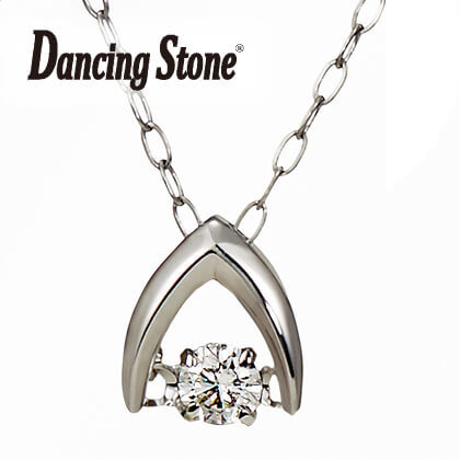 〈ダンシングストーン〉K18ダイヤモンドペンダント(ホワイトゴールド)