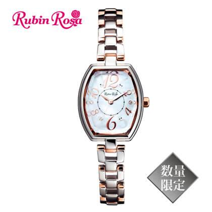 〈Rubin Rosa〉ソーラーレディスブレスウォッチ コンビ(15.1cm)