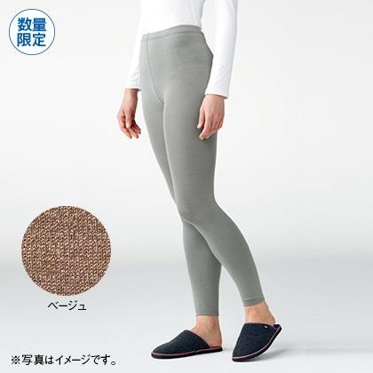 シルク混ゆったりスパッツ(マチ付き)(ベージュ・M〜L)