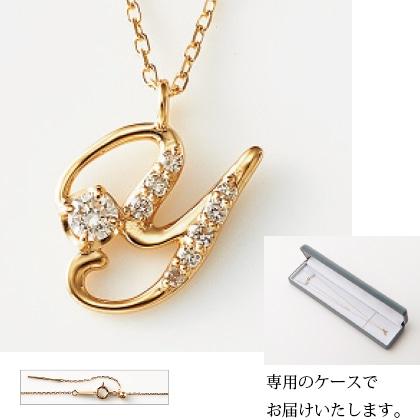 K18イニシャルペンダント(Y)