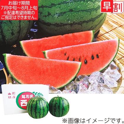 尾花沢産小玉すいか(2玉)