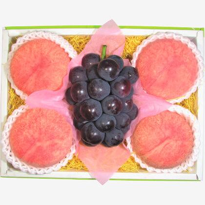 ピオーネ&水蜜桃