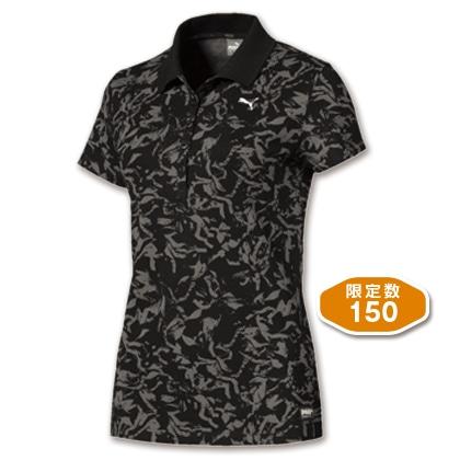 PUMA レディスポロシャツ ブラック(Mサイズ)