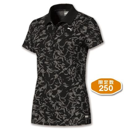 PUMA レディスポロシャツ ブラック(Lサイズ)