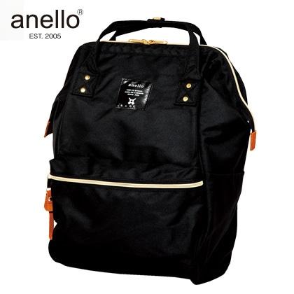 [anello(R)(アネロ)] ポリキャン口金リュック ブラック