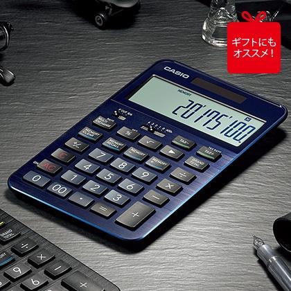 [カシオ] プレミアム電卓 ブルー