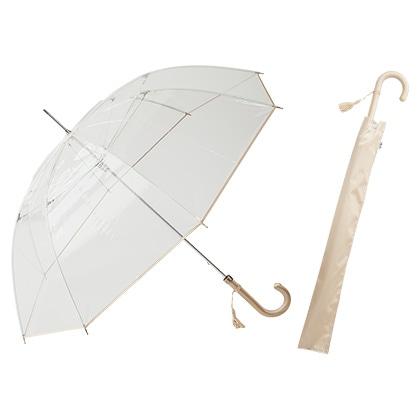 [ホワイトローズ] 縁結手開き長傘 ゴールド