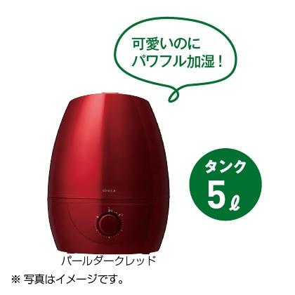 〈シロカ〉5L加湿器(パールダークレッド)