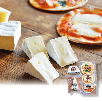 <アトリエ・ド・フロマージュ> おすすめチーズとミニピザ3種のセット