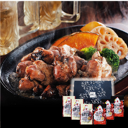 <華味鳥> 鶏とろ炭火焼・スパイシー焼セット