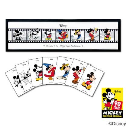1コマピンズ額装セット ミッキーマウス90周年