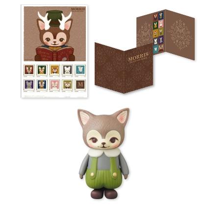 つのがはえた猫「MORRIS」フレーム切手 KITTY MORRISセット(限定カラー グリーン) 限定200個